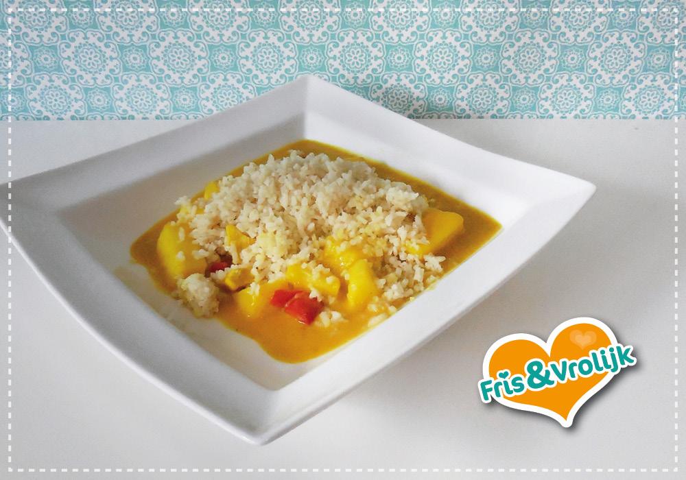 recept kip kerrie met rijst
