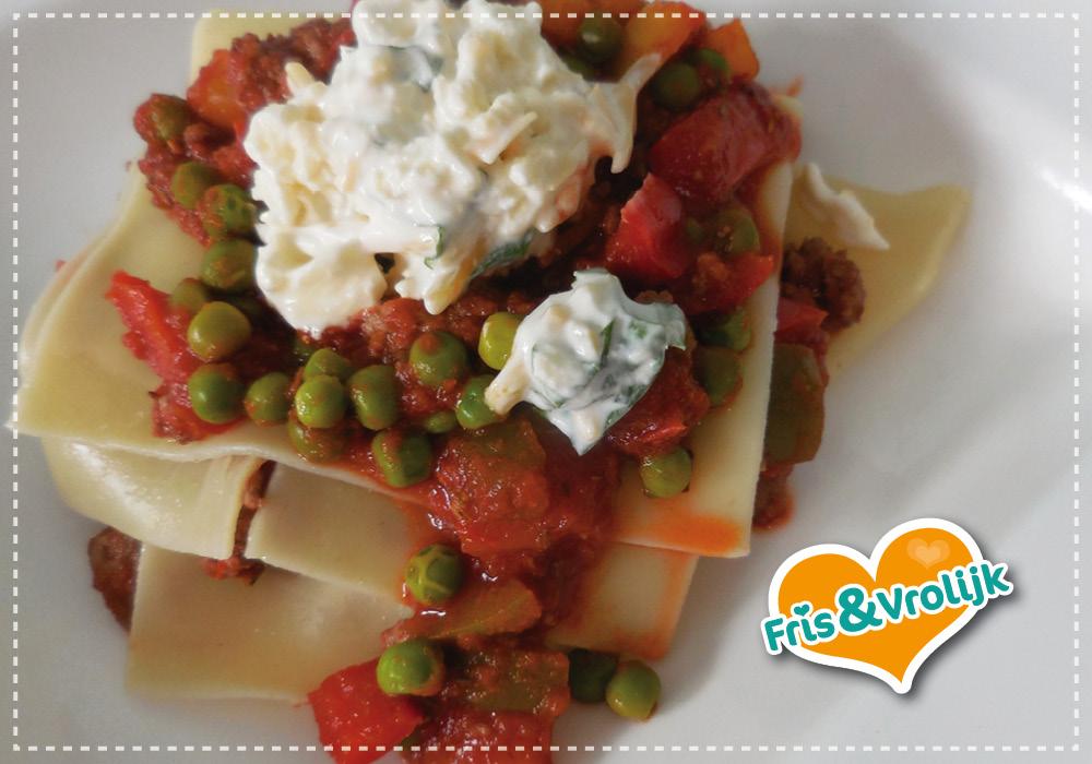 recept snelle lasagne zonder oven