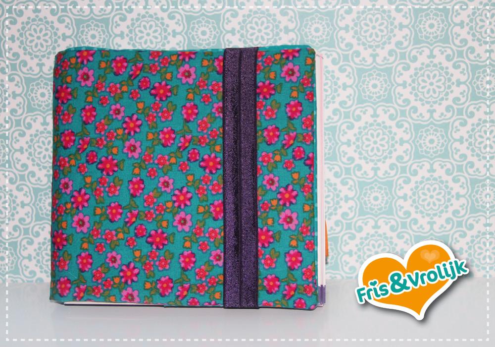 dagboek omslag diy stof vierkant