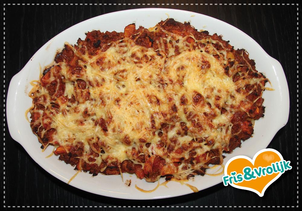 Gehaktovenschotel aardappel tomaat recept