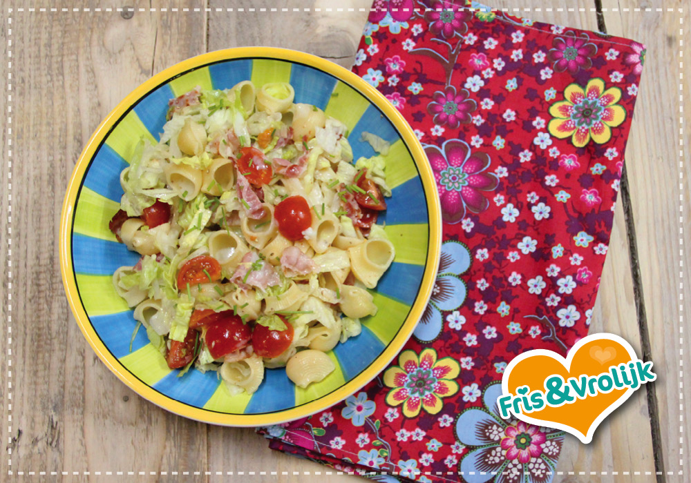 recept blt salade pastasalade