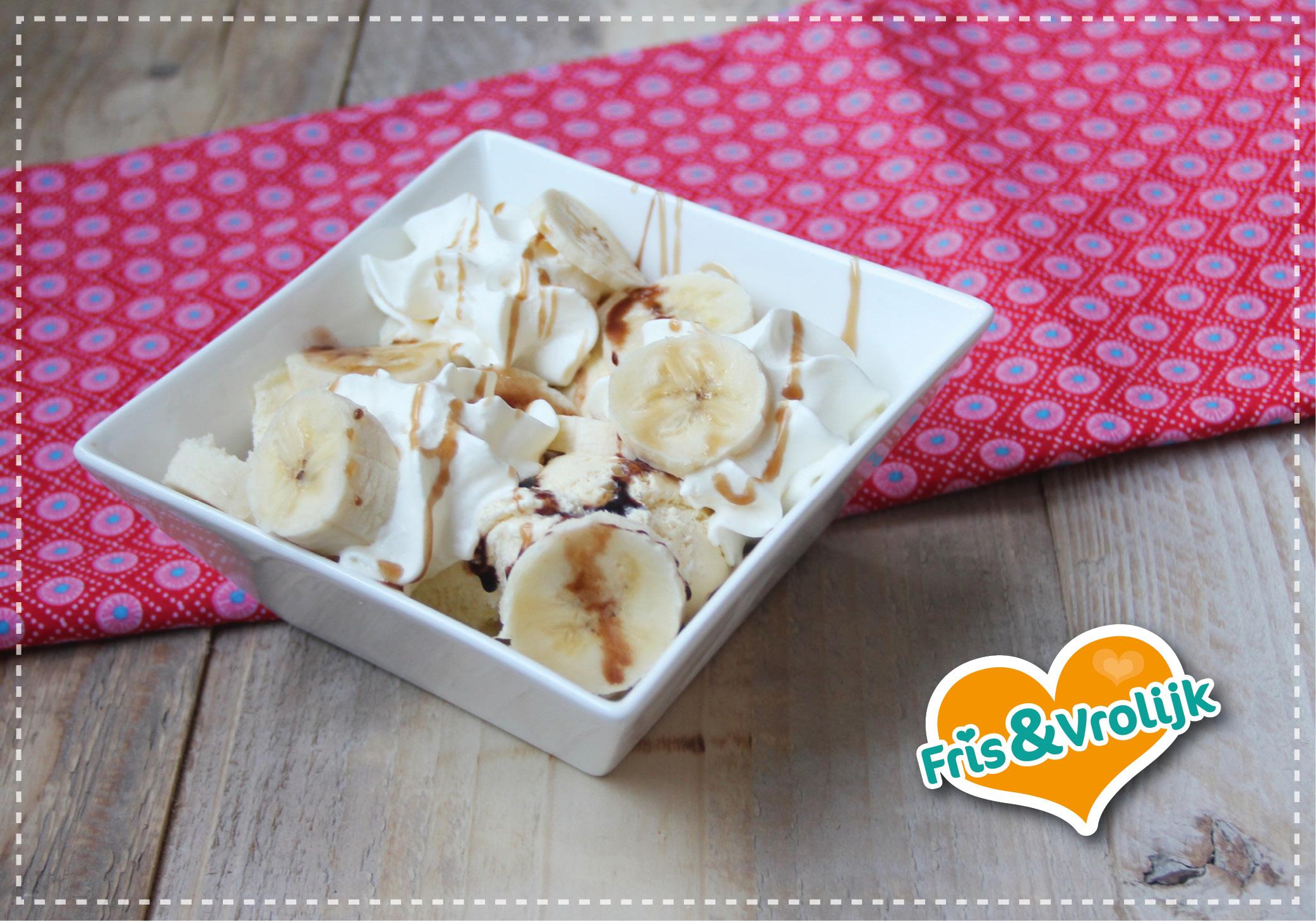 bananasplit recept ijs