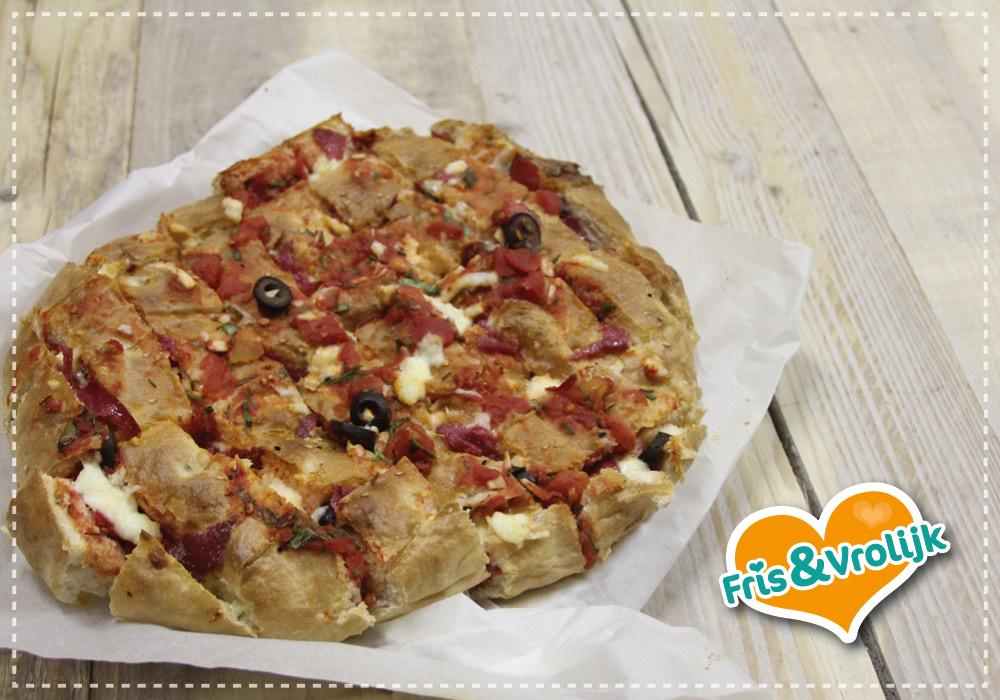 recept pizza plukbrood