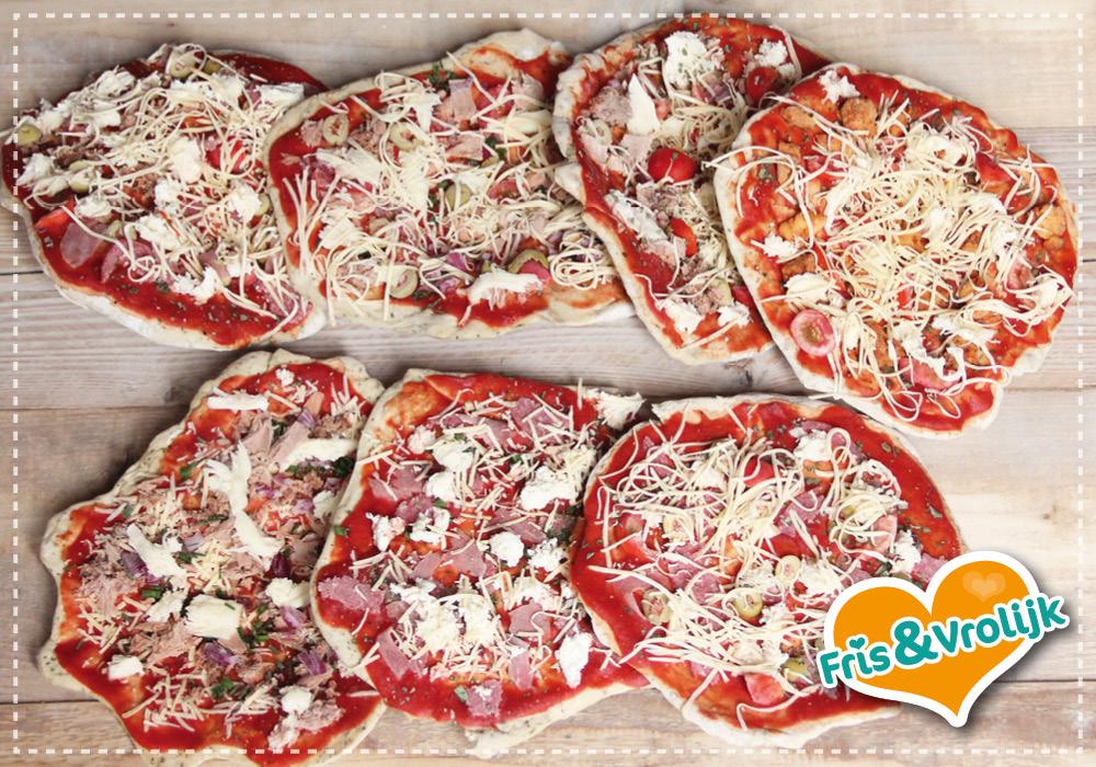 Zelf diepvries pizza maken