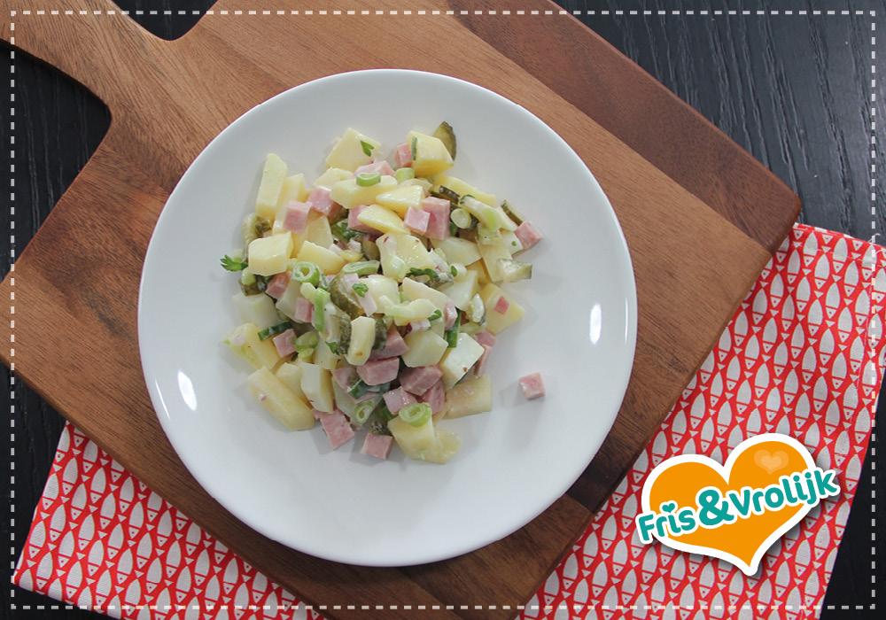 Recept aardappel salade mama superlekker