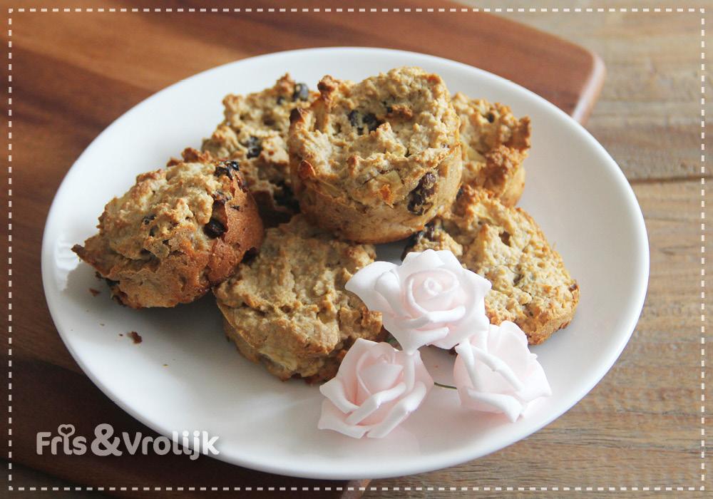 Havermout muffin recept appeltaartmuffins