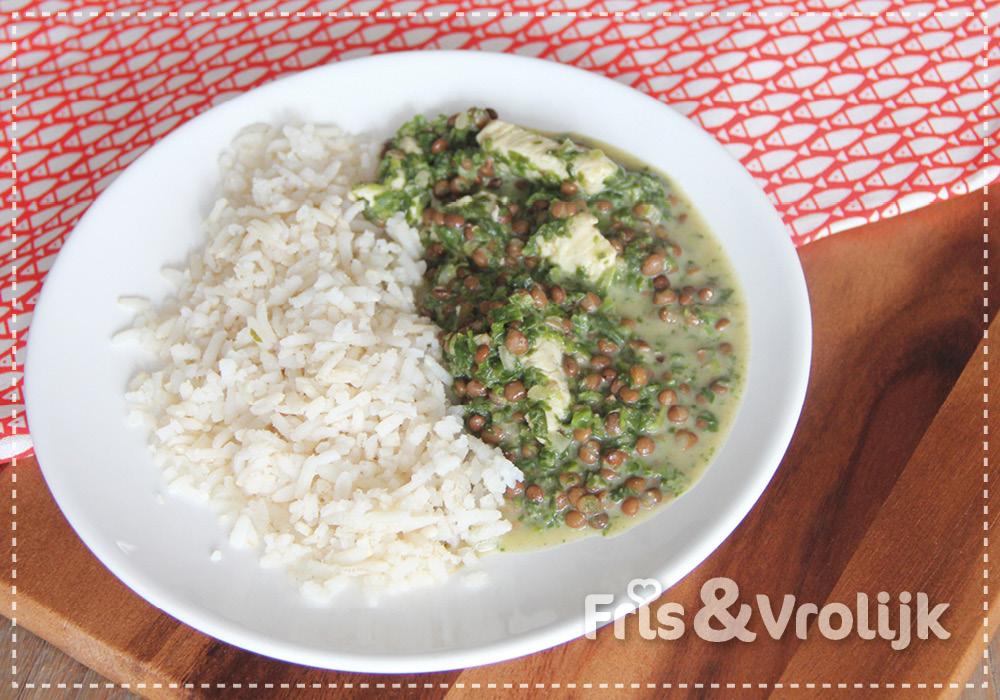 groene linzencurry recept