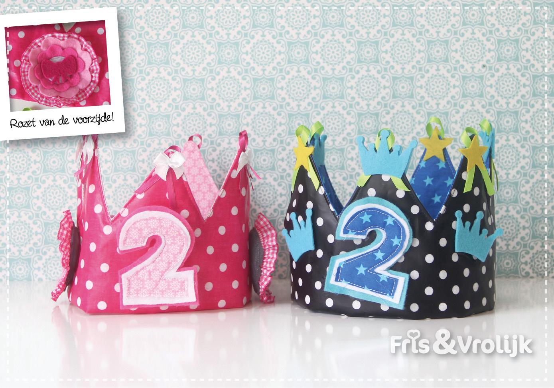 Verjaardagskroon stof diy